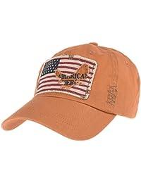 WITHMOONS Cappellini da baseball Cappello Baseball Cap Vintage American  Flag Patch Distressed CR1055 c7d576a8587c
