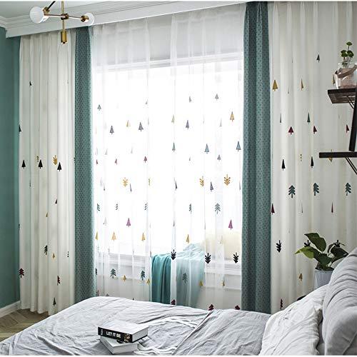 FAFEGVCFDS Thermische Verdunkelungsvorhänge Paar von Ösenring-Oberseiten-Verkleidungen scherzt für Schlafzimmer/Wohnzimmer/Kinderzimmer 140 * 260cm