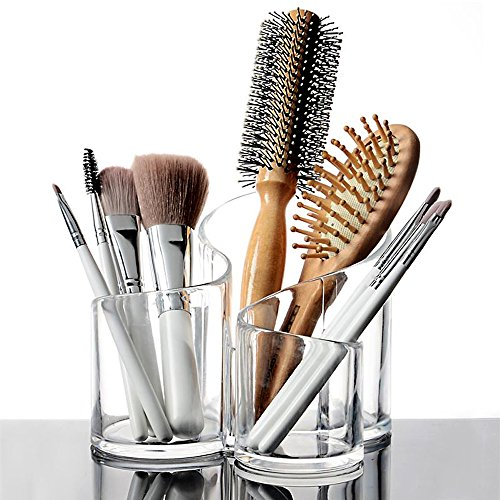 Brosse à ongles maquillage en acrylique transparent organisateur cosmétique affichage Étui de rangement (CM0127)