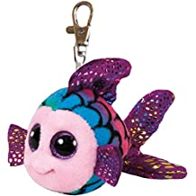 Ty - Beanie Boos Keychain Clip Flippy, Fisch multicolor 8,5cm