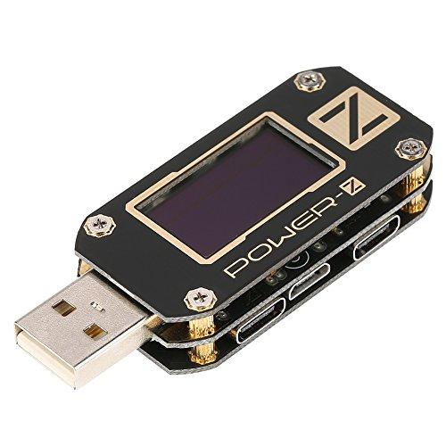 USB-Tester Typ-C QC2.0/3.0 / PD-Meter Digitale Spannung Stromverstärker Ripple Dual Tools Power Bank Detector OLED-Anzeige