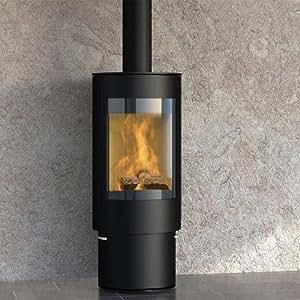 Königshütte Kaminofen Virgo (5,5 kW) Stahlverkleidung mit Glastür, Topplatte Vanilla