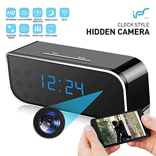 Telecamera Spia, 1080P Mini Microcamere Spia WiFi Orologio-sveglia Telecamera Nascosta con Rilevamento del movimento con Visione Notturna -Sorveglianza in tempo reale della casa o dell'ufficio