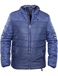 Kangol Mens Casual Zip Up Quilted Puffa Jacket Sports Branded Cagoule Field Coat
