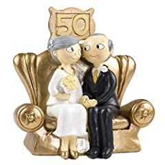 Idea Regalo - Mopec Pop & Fun - Figura per torta di nozze d'oro, 50° anniversario