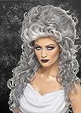 Femmes Halloween Gothique Gris Bouclé Perruque Choucroute