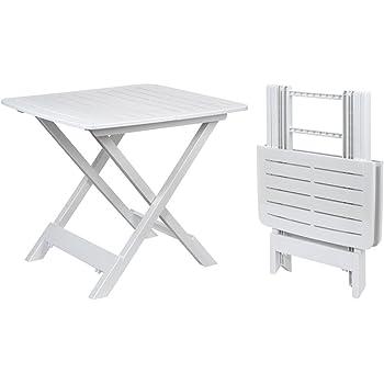 Amazon.de: Kunststoff Beistelltisch kleiner Klapptisch Gartentisch ...