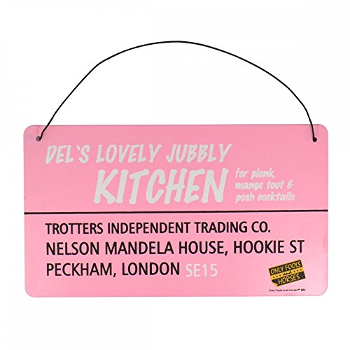 Del's Lovely Jubbly Kitchen  Tin Plaque, Pink