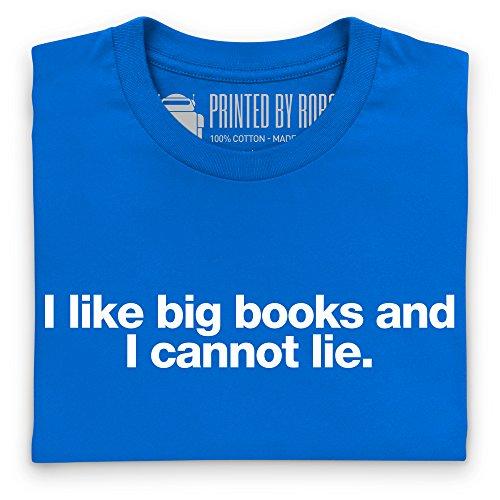 Big Books T-Shirt, Damen Royalblau