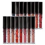 immagine prodotto Richoose 16 Colors insieme impermeabile trucco liquido Lip Pencil opaco Rossetto Gloss Super Long Lasting (16 pcs)