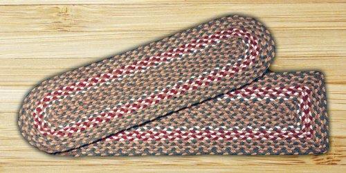 Earth Rugs 39–009 Rectangle Ypsilon, 8,25 par 68,6 cm, Vert/Bordeaux
