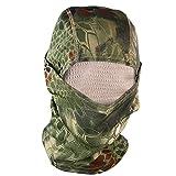 Balaclava Maske Paintball Vollschutzmaske Sturmhaube Gesichtsmaske taktische schnell trocknend Kälteschutz für Kampf Sport, auch für Ski, Snowboard, Fahrrad, Motorrad Dschungel