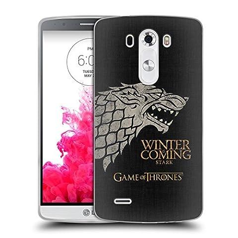 Offizielle HBO Game Of Thrones Stark House Mottos Soft Gel Hülle für LG G3 / D855 / D850 / D851