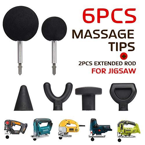 6 Stk. / Set Perkussion Massage Spitze Bit Adapter Massage Adapter Befestigung für Puzzle Massagegerät Adapter Befestigung für Hals Schulter - 6 Stk/Set -