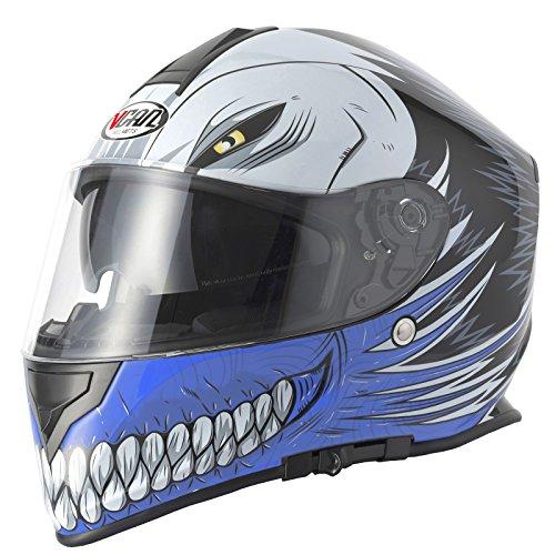 Vcan V127Hollow casco integrale moto, Blu