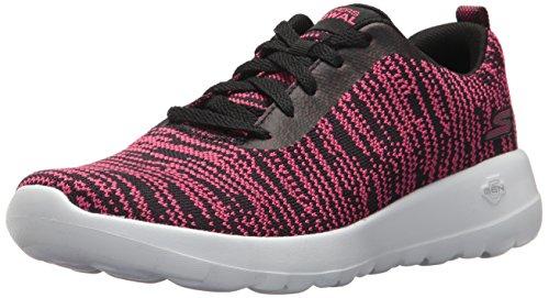 Skechers go walk joy-rapture, sneaker donna, nero (black/hot pink), 40 eu
