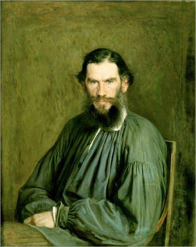 Preisvergleich Produktbild Forex-Platte 90 x 110 cm: Leo Tolstoi von Ivan Nikolaevich Kramskoy / Bridgeman Images