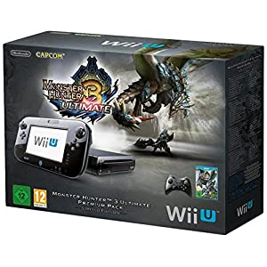 Nintendo Wii U – Konsole, Premium Pack, 32 GB, schwarz – Monster Hunter 3