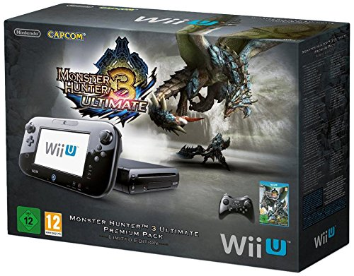 Console Nintendo Wii U 32 Go noire – 'Monster Hunter 3 – Ultimate' premium pack