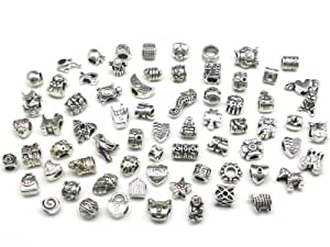 Nambeads © 10 x Mixed Tibetan Silver Charms to fit Pandora
