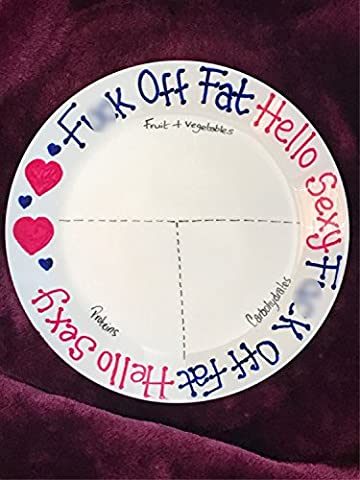 Novelty Healthy Eating Slimming World Diet Portion Control Plate
