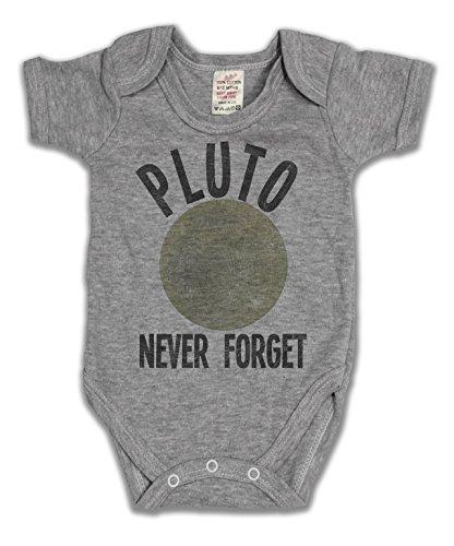 Pluto Never Forget Funny Slogan Girls & Boys Unisex Baby Wachsen (Pluto-tv)