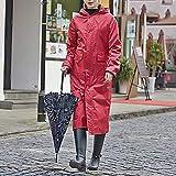 Raincoat Damen Elegant Mode Casual Große Größen Poncho Unifarben mit Kapuze Regenjacke Jungen Hipster Wasserdicht Atmungsaktiv Outdoor Wandern Regenmantel (Color : B, Size : M)