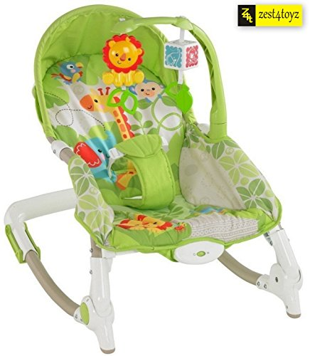 Zest 4 Toyz Jouet Portable Rocker Bouncer with Selectable Vibrator Mode and Toys (Multicolour)