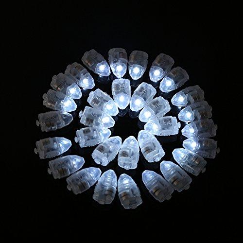 Lampe à Boule Flash LED, Hankyky 50pcs Mini Ballon Fête Lumière pour Lanterne de Papier Décoration Mariage