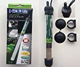 Hidom HT-2050 Submersible Blastproof Aquarium Heater 50w with FREE THERMOMETER - Max Tank Size 50 Litres