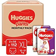 Huggies Wonder Pants Extra Large Size Diapers Monthly Pack (112 Count)