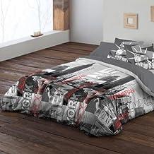 Pierre Cardin - Funda nórdica, bajera y almohadón Nueva York. 135 cm. (
