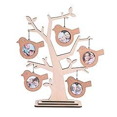 Idea Regalo - Giftgarden Cornici per Foto a Forma di Albero con 5 Uccelli Cornici Legno
