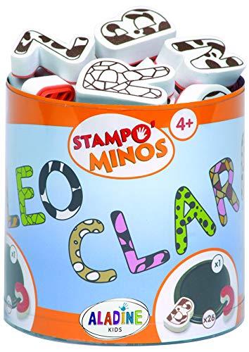 Aladine 85111 Stampominos Alphabets - Lote de Sellos de Madera y tampón...