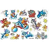 Cg154 Caracteres tatuaje temporal Tom y Jerry dibujos animados para los niños que nadan