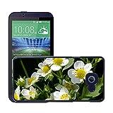 Hülle Case Schutzhülle Cover Premium Case // M00238284 Strawberry Blumen Erdbeerpflanze // HTC Desire 510