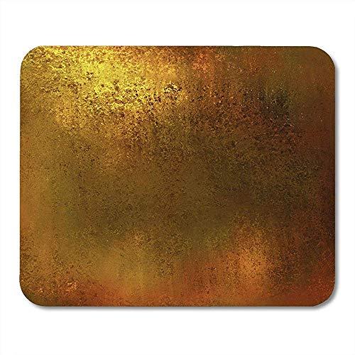 Mauspads Gold Abstrakt Gelb Warm Braun Farbton Vintage Earth Earthy Luxus Patina Bronze Messing Mousepad für Laptop,Desktop Computer Bürobedarf Mauspads 30X25CM