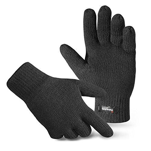 Herren Thermo Strick-Handschuhe Thinsulate Anthrazit L/XL