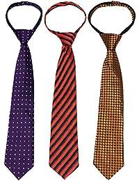 kilofly–Juego de 3PRE-TIED ajustable cremallera corbata para niños correa de cuello para bebé cuello