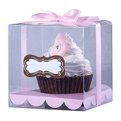 Ibex klar Single Cupcake Box PVC 10Stück (Single Cupcake Box)