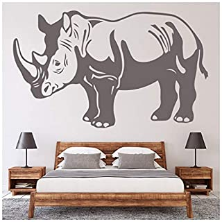 azutura Rhino Portrait Wall Sticker Safari Animals Wall Decal Kids Bedroom Home Decor available in 5 Sizes and 25 Colours X-Large Black