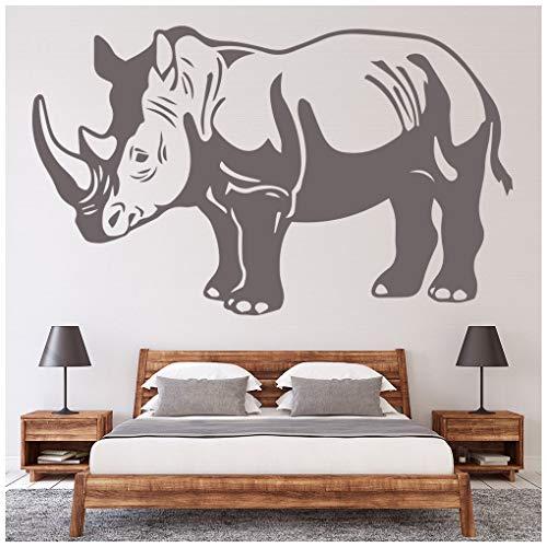 azutura Nashorn-Porträt Wandtattoo Safari Tiere Wand Sticker Kinder Schlafzimmer Haus   Dekor verfügbar in 5 Größen und 25 Farben Extraklein Licht Orange -