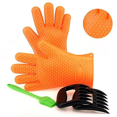 BBQ Handschuhe iRegro BBQ Claws Ofenhandschuhe Grillhandschuhe Fleischkrallen für BBQ Kochen Rösten usw. (Kochen Roste)