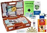 WM-Teamsport Sport-Sanitätskoffer Plus 4 Erste-Hilfe Koffer DIN 13157 + Sporttape, Sprühpflaster, Wärme+Kälte-Behandlung