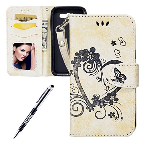 Custodia-Samsung-Galaxy-J3-2017-Cover-Samsung-Galaxy-J3-Prime-2017-Custodia-Portafoglio-JAWSEU-Shock-AbsorptionAnti-Scratch-Lusso-3D-Goffratura-Fiore-Farfalla-Wallet-Leather-Flip-Cover-Custodia-for-Sa