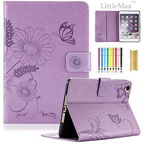 Schutzhülle für iPad Mini, Mini 2/3Fall-littlemax (TM) PU Leder Stand Case Flip Wallet Case Cover mit Auto Sleep/Wake Funktion für iPad Mini 1/2/3[gratis Reinigungstuch, Stylus Pen]