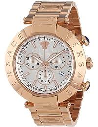 De los hombres de Versace VA8040013 Reve Chrono de ión de litio-chapados en oro rosa de acero inoxidable reloj de pulsera Relojes de fecha