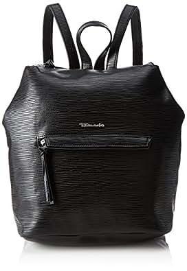 TAMARIS BABETTE Damen Handtasche, Backpack, Rucksack, 30x20x13 cm (B x H x T), 4 Farben: black, blue, vino oder black comb.