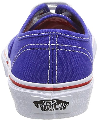 Vans Authentic, Baskets Basses Mixte Enfant Bleu (Star Eyelet/Surf The Web)