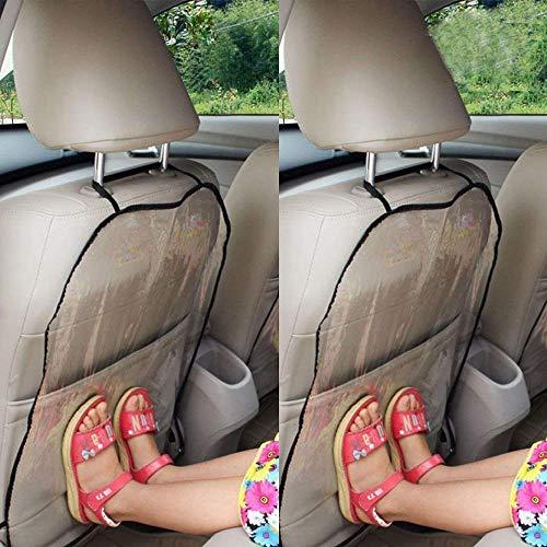2Pc Autositz Rückenschutz, Schutz Autositz Rückenlehne Kinder, Rückenlehnenschutz Auto Kinder, Kick-Matten-Schutz für den Autositz, Abnehmbare Hängen Auflage Car Seat Cover Kick Matte für Kids (Kfz-zubehör Seat Cover-sets)
